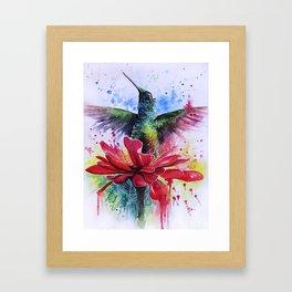 Rising from a Flower Framed Art Print