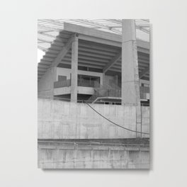katowice stadion, texture photography, architecture Metal Print