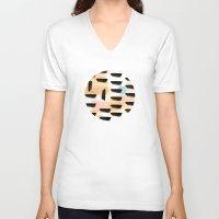 the strokes V-neck T-shirts featuring Brush strokes by Deidre Mackenna