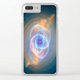 Cat's Eye Nebula Clear iPhone Case