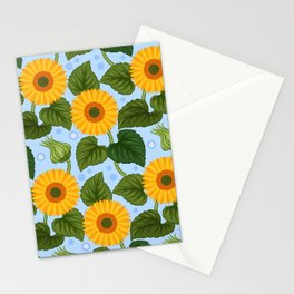 Happy Field of Sunflowers Stationery Cards