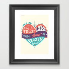Act of True Love Framed Art Print