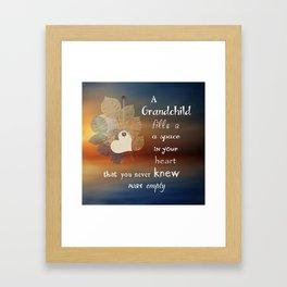 A Grandchild Framed Art Print