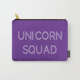 Unicorn Squad - Purple and White Carry-All Pouch