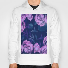 Floating roses with petals Hoody
