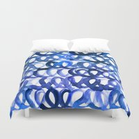 breaking Duvet Covers featuring Breaking the waves by Picomodi