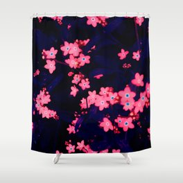 fluorescent forget-me-nots Shower Curtain
