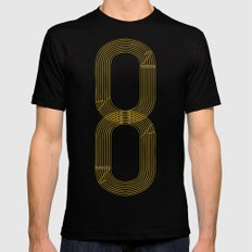Eight track - runners never quit LARGE Mens Fitted Tee Black