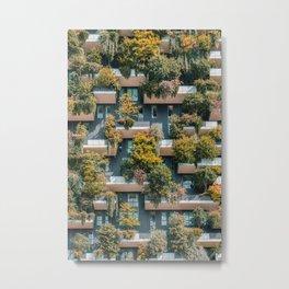 Bosco Verticale, Vertical Forest Poster, Urban Jungle Print, Wall Decor, Architectural Print, Modern Building, Milan Tower, Green Lush Vegetation, Architecture Print, Home Decor, Art Print, Wall Art Print Metal Print