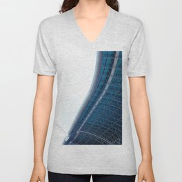 The Building Curves (Color) Unisex V-Neck