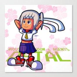 MySims - Petal as Sakura Kasugano Canvas Print