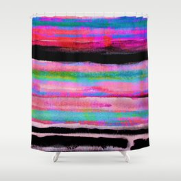 colorful abstract painting Shower Curtain