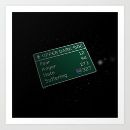 The Path to the Dark Side Art Print