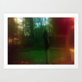 Damaged Disposable Camera Film - Scarecrow Art Print