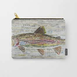 Rainbow Trout Collage by C.E. White Carry-All Pouch