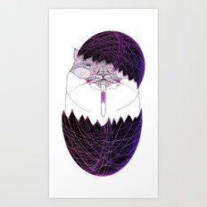 UZUMAKI KAT  HAPPY EASTER Art Print