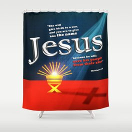 The Name Shower Curtain