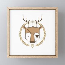 Mr. Deer Framed Mini Art Print