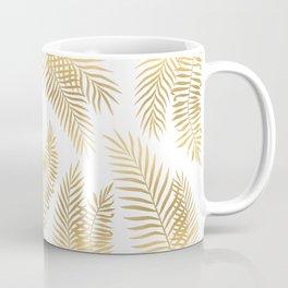 Gold palm leaves Coffee Mug