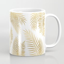 Gold palm leaves Coffee Mug