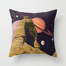 Space Rock II Throw Pillow