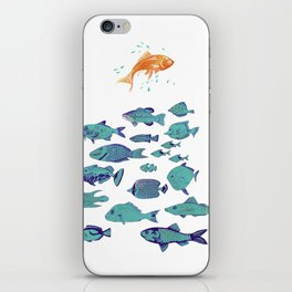 Seek Discomfort Fish iPhone Skin