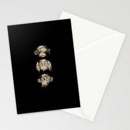 3 wise monkeys Stationery Cards