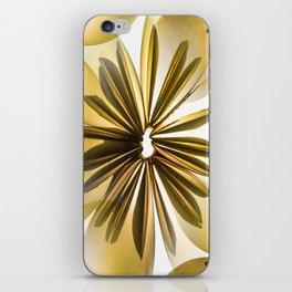 Origami Flowers Golden Tones #decor #society6 #buyart iPhone Skin