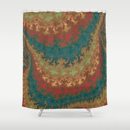 Fractal Layers Shower Curtain