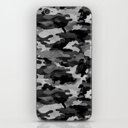 Camouflage (Gray) iPhone Skin