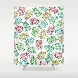 Amazon Jungle Watercolor Palms Shower Curtain