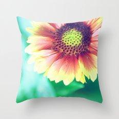 Fantasy Garden - Sunny Flower Throw Pillow