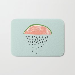 Watermelon raining seeds. Bath Mat