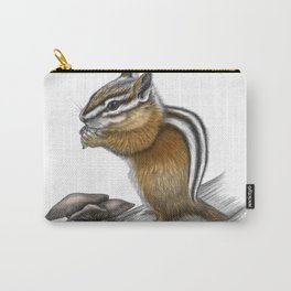 Chipmunk and mushrooms Carry-All Pouch