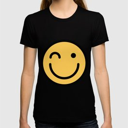 Smiley Face   Squinting Big Smiling Happy Smileys T-shirt