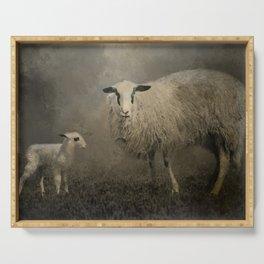 Newborn Lamb Serving Tray