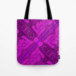 Diagonal Abstract Psychedelic Doodle 10 Tote Bag