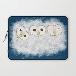 Three fluffy baby owls Laptop Sleeve