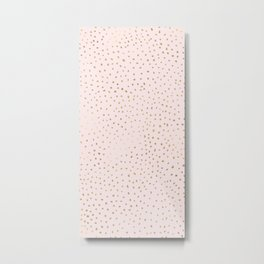 Dotted Gold & Pink Metal Print