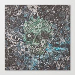 Floral Skull Flat Canvas Print