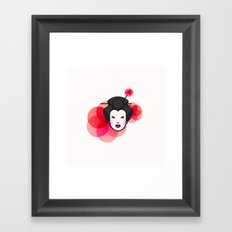 Geisha Icon Framed Art Print