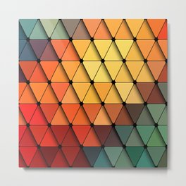 Colorful triangular grid Metal Print