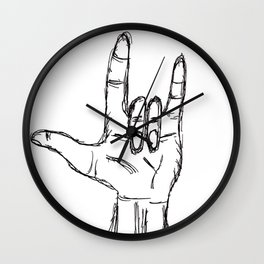 I love you in ASL Wall Clock