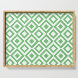 Green Grid Serving Tray