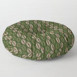 Evergreen pinecones pattern - dusty rose & green palette  Floor Pillow