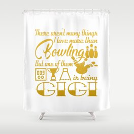 Bowling Gigi Shower Curtain