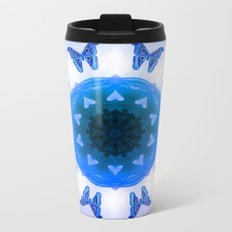 All things with wings (blue) Metal Travel Mug