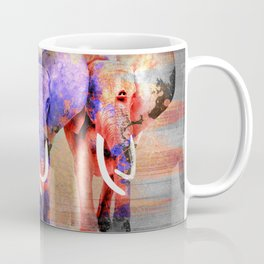 Watercolor effect  Elephant Digital Art Coffee Mug