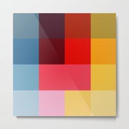 Chromatic squares Metal Print
