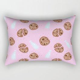 Milk and chocolate chips cookies pink Rectangular Pillow